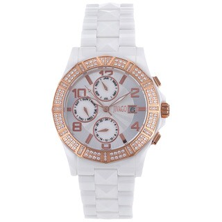 Jivago Women's Quartz White Dial Prexy Watch