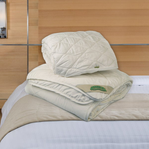 Natura World Wash N Snuggle Comforter and Mattress Pad Combo Set