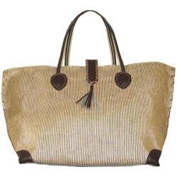 Women's Bamboo54 from Rayon Metallic Tote Bag Gold