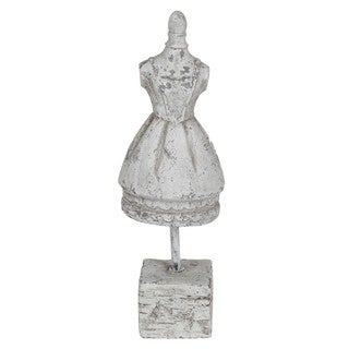 White Ceramic Dress on Stand