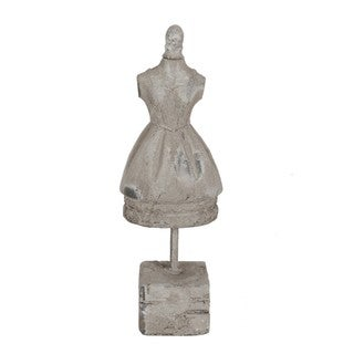 Off White Ceramic Dress on Stand