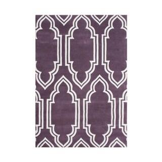 Alliyah Handmade Purple New Zealand Blended Wool Rug (8' x 10')