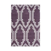 Alliyah Handmade Purple New Zealand Blended Wool Rug (8' x 10')
