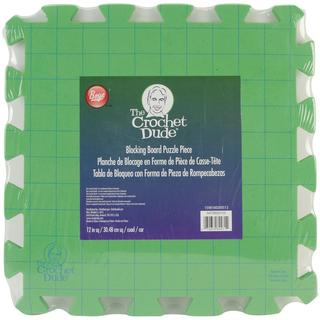 Crochet Dude Blocking Board with Grids and Logo -