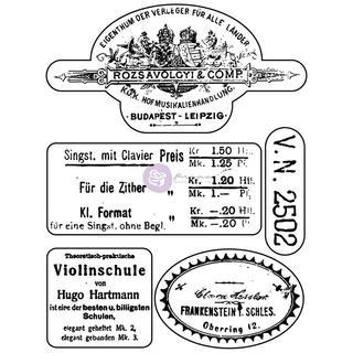 Vintage Vanity Clear Stamps 3 X4  - #1