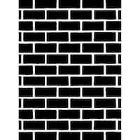 Darice Embossing Folder 4.25 X5.75  - Brick Pattern