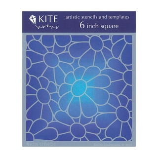 Judikins 6 Inch Square Kite Stencil - Daisymania
