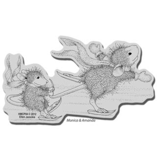 Stampendous House Mouse Cling Stamp - Hang On Tight
