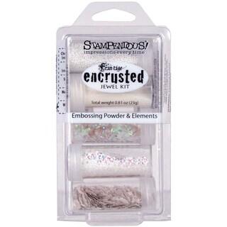 Stampendous White Encrusted Jewel Kit