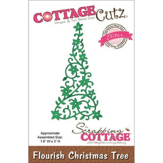 CottageCutz Elites Die 1.6 X3 - Flourish Christmas Tree