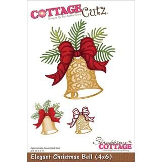 CottageCutz Die 4 X6  - Elegant Christmas Bell