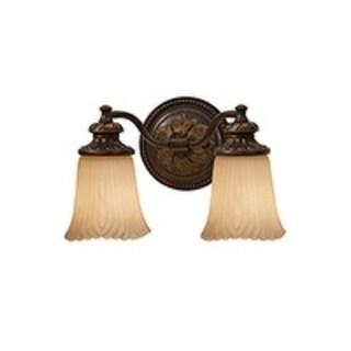 2-light Grecian Bronze Vanity Strip
