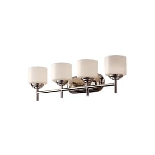 Feiss Malibu 4 - Light Vanity Fixture, Polished Nickel
