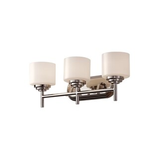 3-light Polished Nickel Vanity Fixture