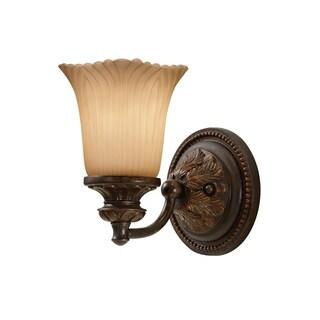 1-light Grecian Bronze Vanity Light Fixture