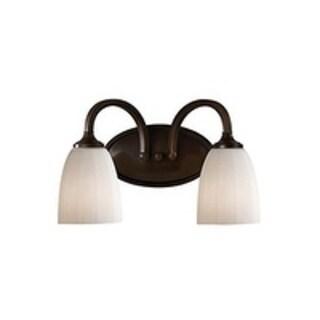 Feiss Perry 2 - Light Vanity Fixture, Heritage Bronze