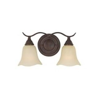 Morningside Grecian Bronze 2-light Vanity Fixture