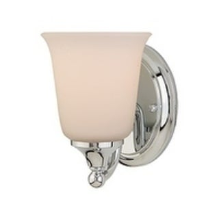 1-light White Opal Glass Vanity Fixture