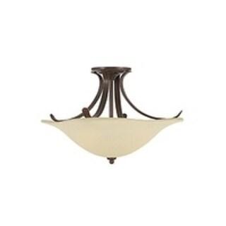 Feiss Morningside 3 - Light Indoor Semi-Flush Mount, Grecian Bronze