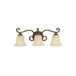 Feiss Vista 3 - Light Vanity Fixture, Corinthian Bronze