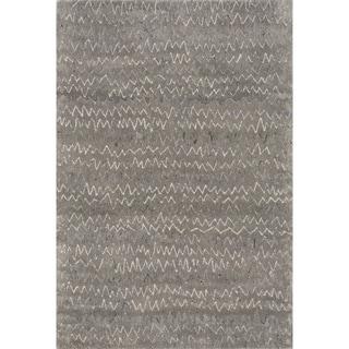 Hand-tufted Dawson Grey Wool Rug (7'10 x 11'0)