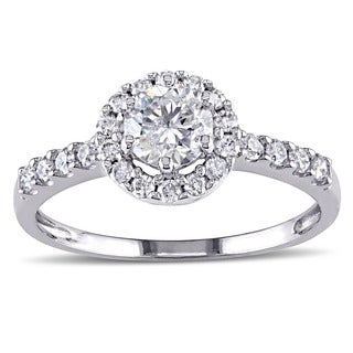 Miadora Signature Collection 14k White Gold 1ct TDW Round Halo Diamond Ring