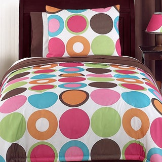 Sweet Jojo Designs Girl's 'Deco Dot Modern' 4-piece Twin Comforter Set