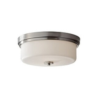 Feiss Kincaid 2 - Light Indoor Flush Mount, Brushed Steel - Silver