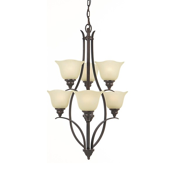 Morningside 6-light Grecian Bronze Chandelier