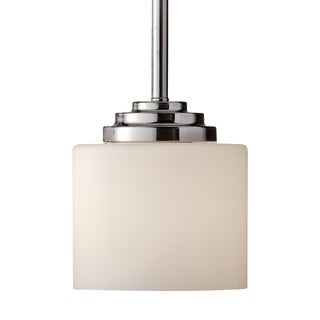 1-light Polished Nickel Mini Pendant