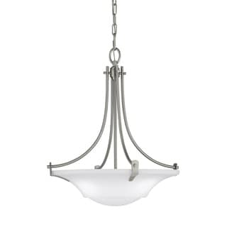 3-light Brushed Steel Uplight Chandelier