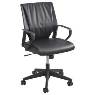 Safco Priya Leather Mid-back Executive Chair
