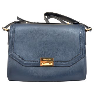 BCBGeneration 'Gemma' Carbon Leather Whipstitched Shoulder Bag