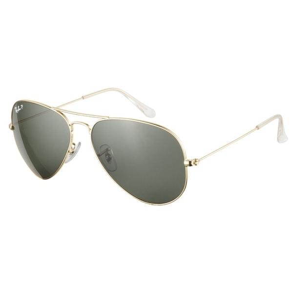 Ray-Ban RB3025 001 58 Aviator Gold Green Polarized 58 Sunglasses
