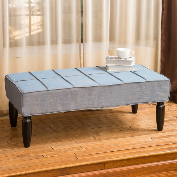Aida Piping Fabric Ottoman Bench by Christopher Knight Home