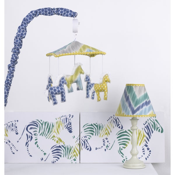 Cotton Tale Boys Decor Kit In Zebra Romp Free Shipping