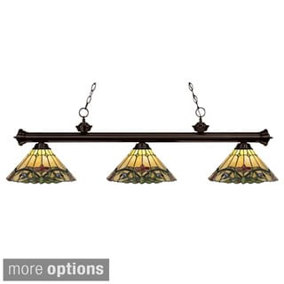 Riviera Tiffany Style Bronze Billiard Light Fixture
