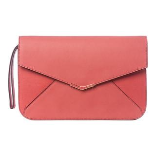 Fendi '2Jours' Pink Leather Clutch