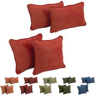 Blazing Needles 4-Piece Microsuede Throw Pillow Set