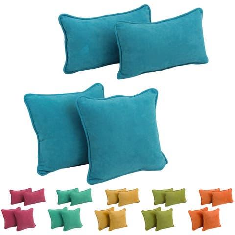 Blazing Needles Delaney Microsuede Pillow Set (Set of 4)