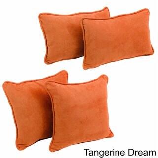Blazing Needles Microsuede Decorative Pillows (Set of 4)