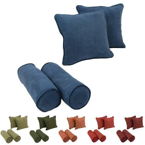 Blazing Needles Microsuede Throw Pillows (Set of 4)