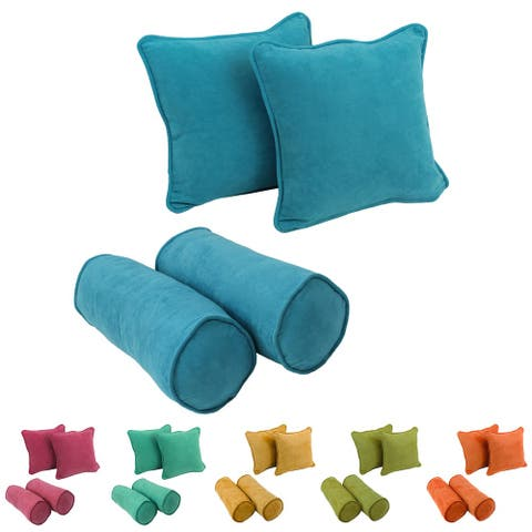 Blazing Needles Microsuede Throw Pillow Set (Set of 4)