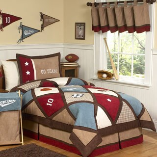 Sweet Jojo Designs 4-piece Boys All Star Sports Twin Comforter Set