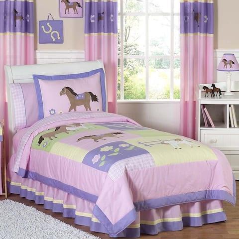 Sweet Jojo Designs Girls 'Pretty Pony' 3-piece Full/Queen Comforter Set