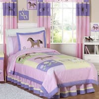 Sweet Jojo Designs Girls 'Pretty Pony' 3-piece Full/Queen Comforter Set