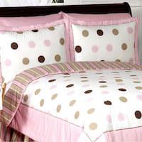 Sweet Jojo Designs Girls 'Dots' 3-piece Full/Queen Comforter Set
