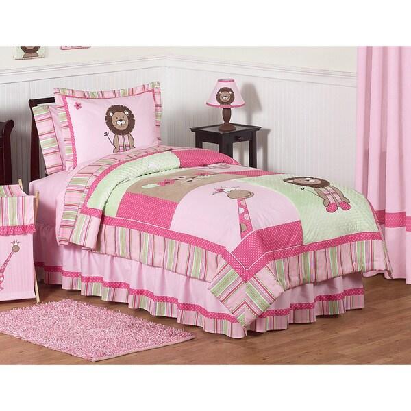Sweet Jojo Designs Girls 'Jungle' 3-piece Full/Queen Comforter Set