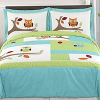 Sweet Jojo Designs 'Hooty Owl' Full/Queen 3-piece Comforter Set