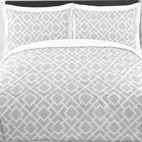Sweet Jojo Designs 'Grey White Diamond' 3-piece Full/Queen Comforter Set